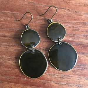 Olive Enamel Earrings